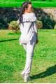 """Серый трикотажный костюм """"Stefani"""" - женская одежда, бижутерия оптом. Фото - look-and-buy.com"""
