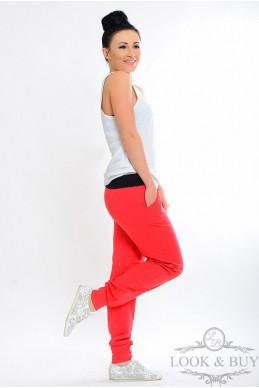 """Спортивные брюки """"Style"""" коралл - женская одежда, бижутерия оптом. Фото - look-and-buy.com"""
