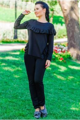 """Спортивный костюм """"Stefani"""", черный - женская одежда, бижутерия оптом. Фото - look-and-buy.com"""