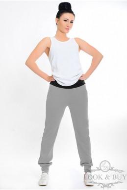 """Трикотажные штаны """"Style"""" серые - женская одежда, бижутерия оптом. Фото - look-and-buy.com"""