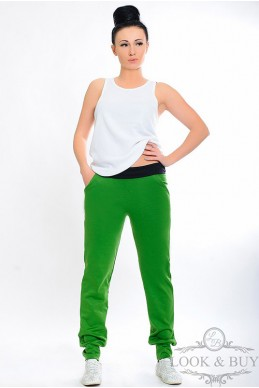 """Трикотажные штаны """"Style"""" трава - женская одежда, бижутерия оптом. Фото - look-and-buy.com"""