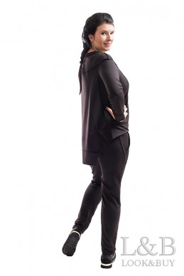 """Спортивный женский костюм """"Токио""""черный - женская одежда, бижутерия оптом. Фото - look-and-buy.com"""
