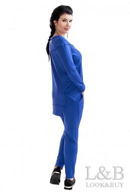 """Трикотажный женский костюм """"Токио""""'электрик - женская одежда, бижутерия оптом. Фото - look-and-buy.com"""
