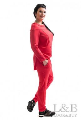 """Трикотажный женский костюм """"Токио""""красный - женская одежда, бижутерия оптом. Фото - look-and-buy.com"""