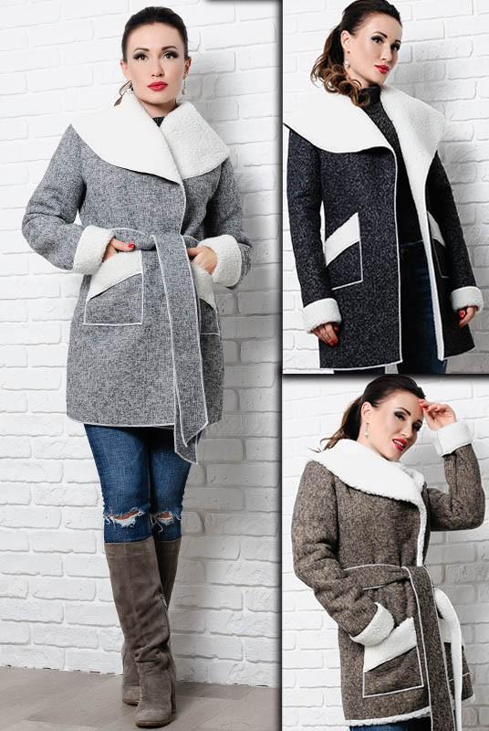 пальто на овчине оптом